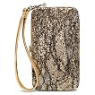Women's Limited Edition Glitter and Lace Cell Phone Case Wallet - Gold