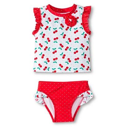 Circo® Newborn Toddler Girls Rash Guard Set - True White product