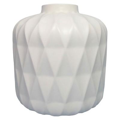 Vase Thrshd Stoneware 8in