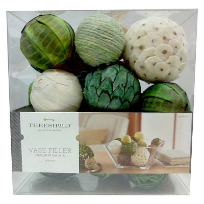 Decorative Balls Vase Filler Green/White Threshold™
