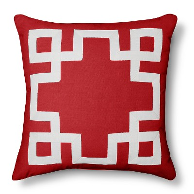 Threshold Red Ribbon Applique Border Toss Pillow