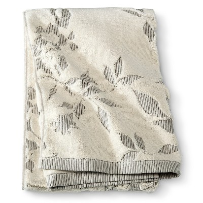 Bath Towel Gray Floral - Threshold™