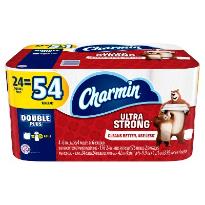 Charmin® Ultra Strong™ Toilet Paper 24 Double Plus Rolls