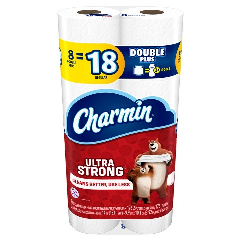 Charmin 174 ultra strong toilet paper 8 double plus rolls product