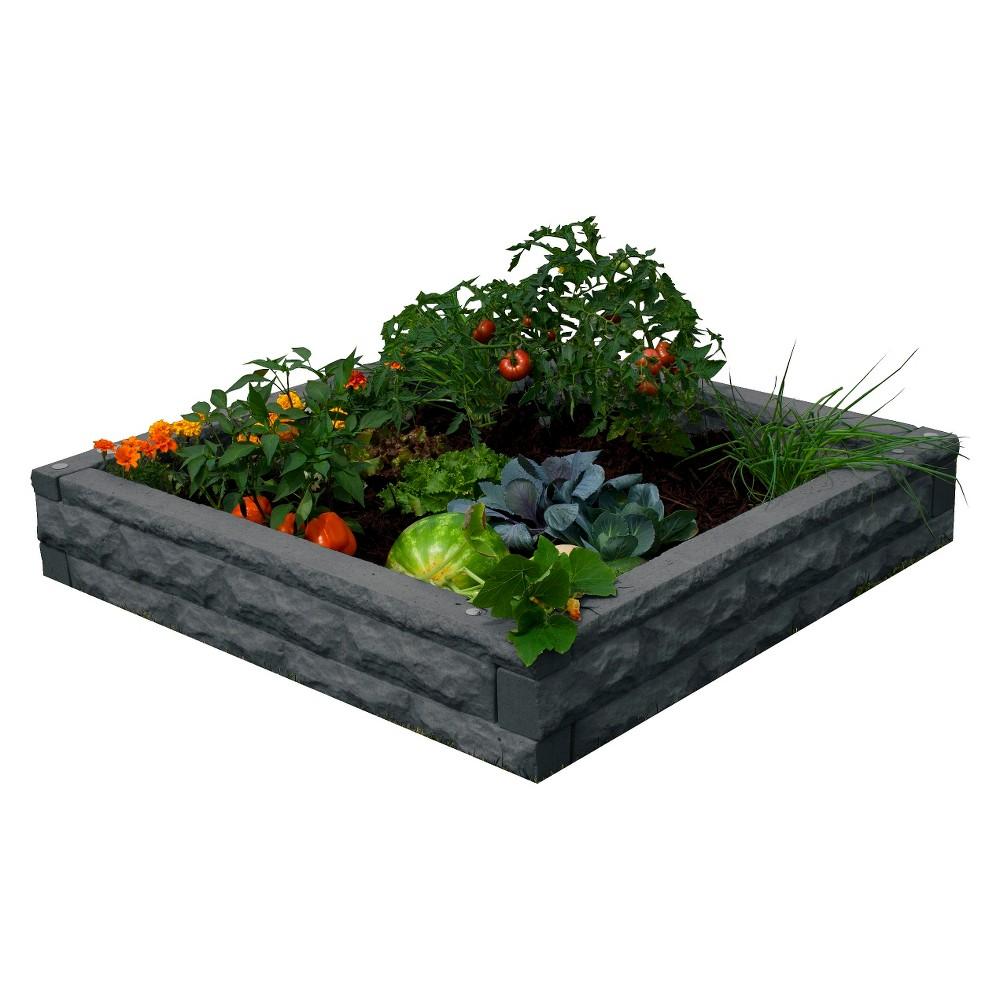 Planter: Garden Wizard Raised Bed Garden: Dark Granite, Dark Grey