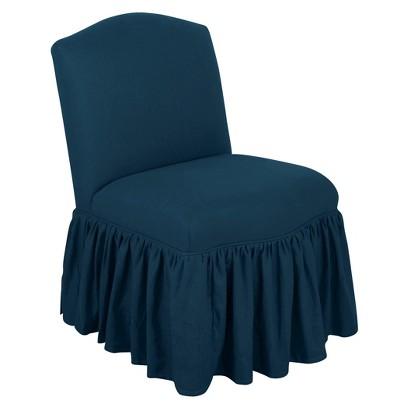 Tilton Fenwick Camel Back Skirted Chair - Linen