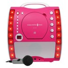 Singing Machine Portable Plug and Play CDG Karaoke System with Microphone - Pink (SML343P)