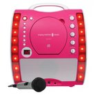 Singing Machine SML343P Portable Plug-n-Play CDG Karaoke System with Microphone