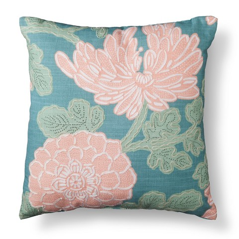 Pretty Decorative Pillows Floral Decorative Pillow