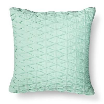 Threshold™ Pleated Diamond Decorative Pillow - Aqua Green
