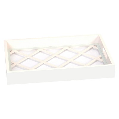 White Lattice Tray
