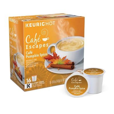 Keurig Café Escapes Café Pumpkin Spice Latte K-Cup pods 16ct