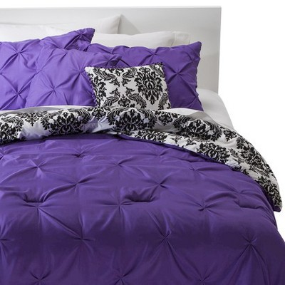 Emma 5 Piece Textured Reversible Comforter Set - Multicolored (Full/Queen)