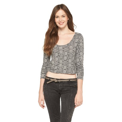 Mossimo Supply Co. Long Sleeve Crop Top