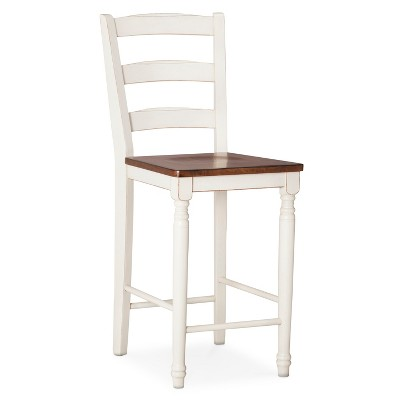 """Mulberry Distressed Two Tone 24"""" Counter Stool Hardwood"""