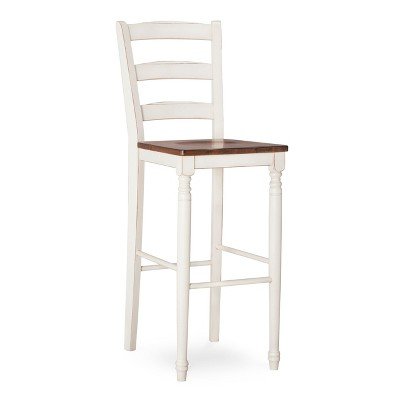"Mulberry Distressed Two Tone 30"" Barstool - Antique White"