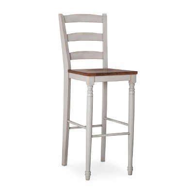 Mulberry Distressed Two Tone 30  Barstool - Light Gray