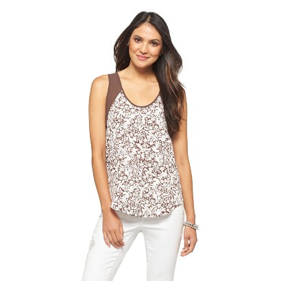 Women's Chiffon Bird Tank Rum Raisin