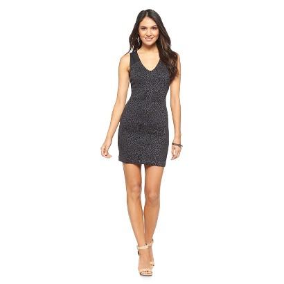 Women's Textured Ponte Dress Black