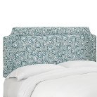 Tilton Fenwick Shirred Border Headboard - Jax Blue