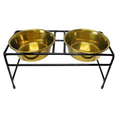 Double Pet Bowl Platinum Pets Nocolor Stainless Steel