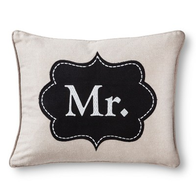 Mr. Decorative Throw Pillow - Tan
