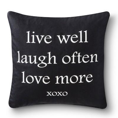 Ecom Decorative Pillow Black White SQUAR