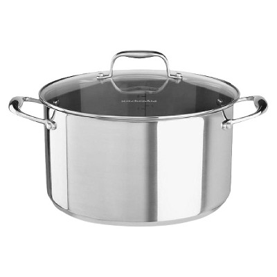 KitchenAid® 6 Quart Stainless Steel Low Casserole with Lid - KCS60LCLS