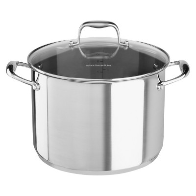 KitchenAid® Stainless Steel 8.0-Quart Stockpot with Lid - KCS80SC