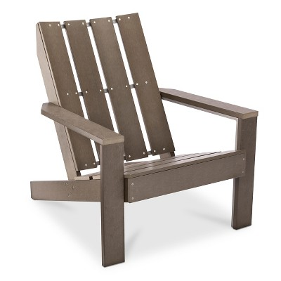Bryant Faux Wood Patio Adirondack Chair - Gray - Threshold™