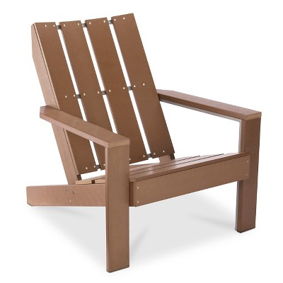 Bryant Faux Wood Patio Adirondack Chair - Brown - Threshold™
