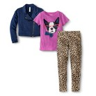 Girl's Animal Outfit with Jacket, T-Shirt...