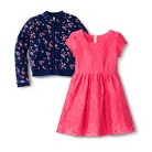 Layered and Lacy 2-Piece Girls' Lace Dres...