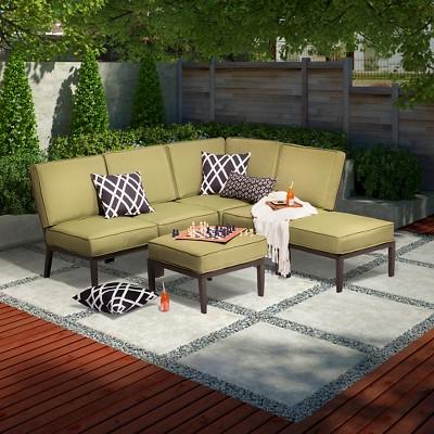 Madison 6-Piece Aluminum Sectional Seating Set - Threshold™