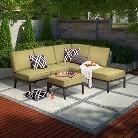 Threshold™ Madison 6-Piece Aluminum Sectional Seating Set