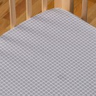Poppi Living Fitted Sheet - Grey Dot