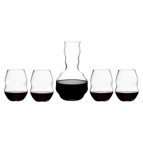 Riedel Swirl Decanter and Wine Glasses