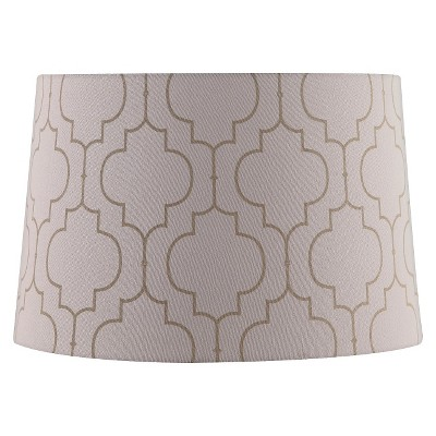 Extra Large Stitched Pattern Lamp Shade - Cream