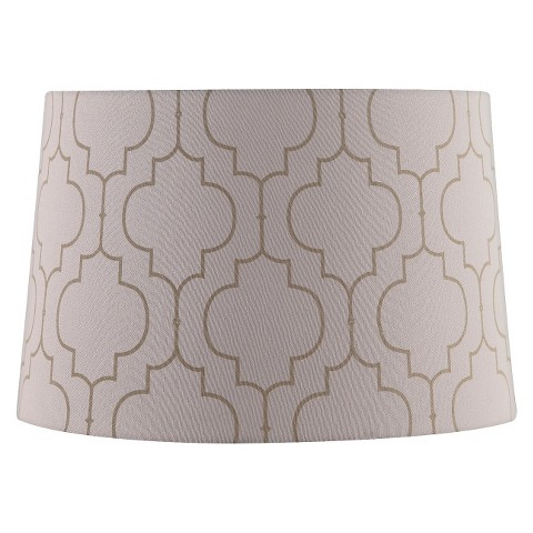 extra large stitched pattern lamp shade cream product details page. Black Bedroom Furniture Sets. Home Design Ideas