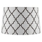 Extra Large Stitched Patter Lamp Shade - Dove