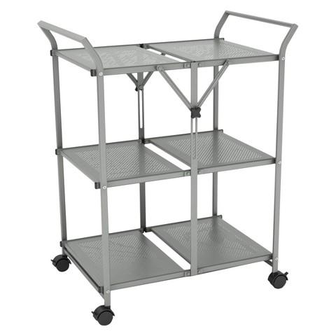 Folding Kitchen Cart Metal Dar Target