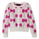 Infant Toddler Girls' Bow Button-Down Cardigan Sweater - Cream/Pink