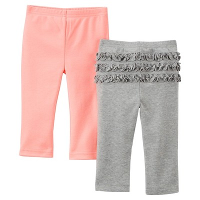 Just One You™Made by Carter's® Newborn Girls' 2 Pack Pant - Pink/Grey 3 M