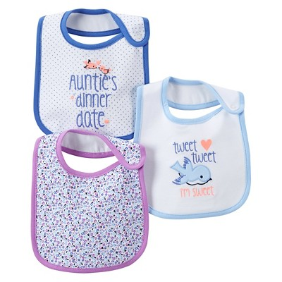 Just One You™Made by Carter's® Newborn Girls' 3 Pack Bird Bib Set