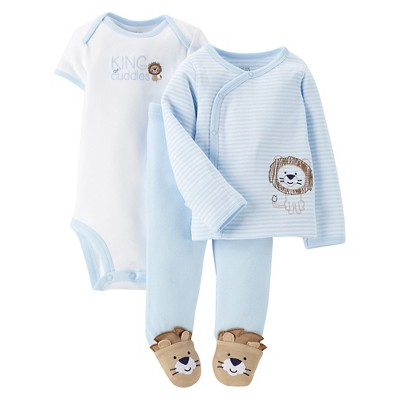 Just One You™Made by Carter's® Newborn Boys' Lion Side Snap Tee - Blue NB