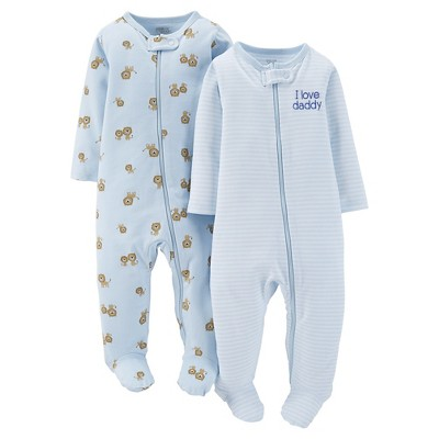 Just One You™Made by Carter's® Newborn Boys' 2 Pack Lion Sleep N' Play 3 M