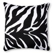 Zebra Decorative Pillow - Black/White (Square)
