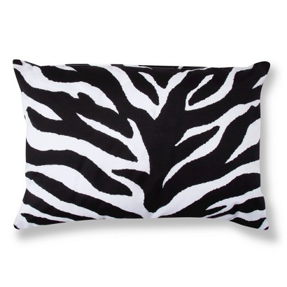 Zebra Decorative Pillow - Black/White (Lumbar) : Target