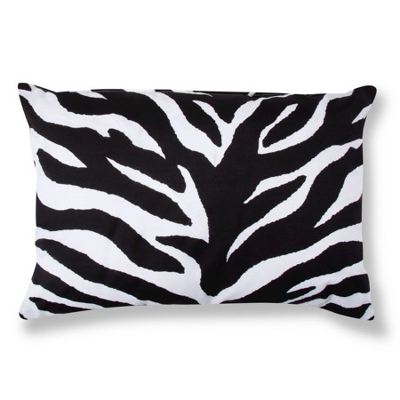 Decorative Lumbar Pillow Target : Zebra Decorative Pillow - Black/White (Lumbar) : Target