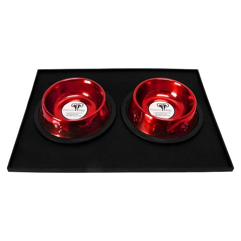 Platinum Pets Feeding Puppy Mat with Two 6 oz Bowls